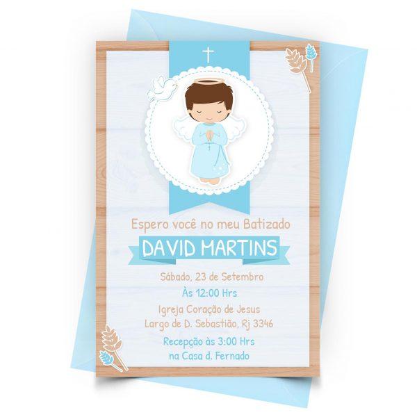 Convite Batizado Personalizado 1