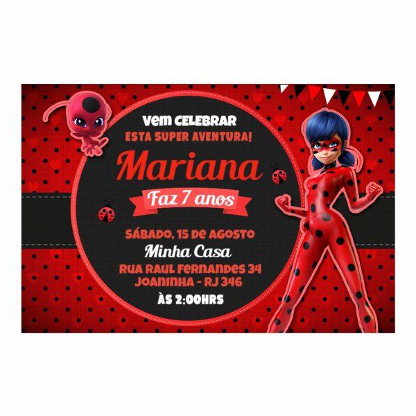 Convite Ladybug Personalizado