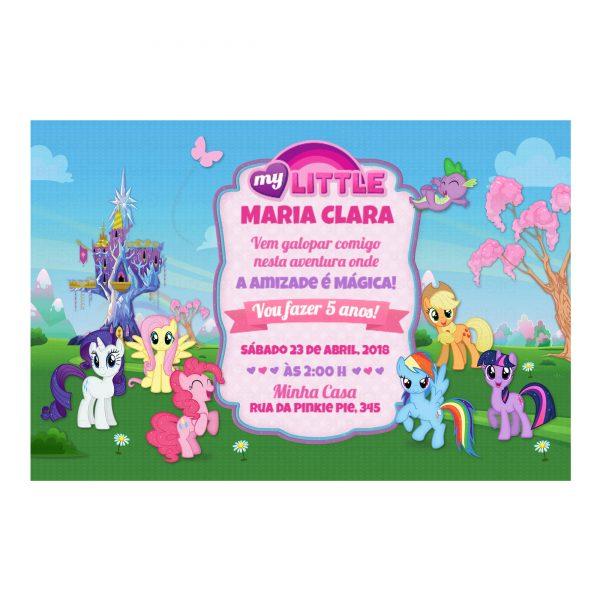 Convite My Little Pony Personalizado Online
