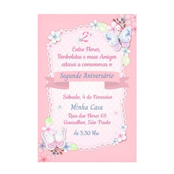 Convite Personalizado Borboleta