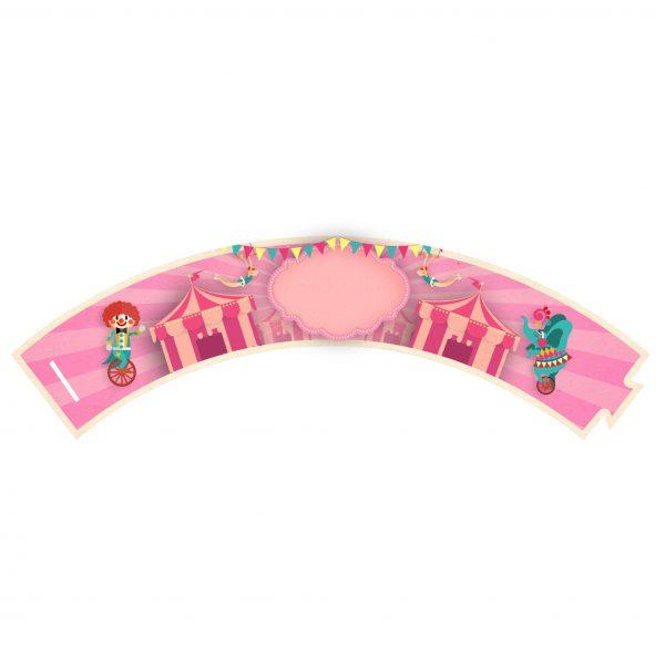 Saia de Cupcake Circo Rosa Grátis