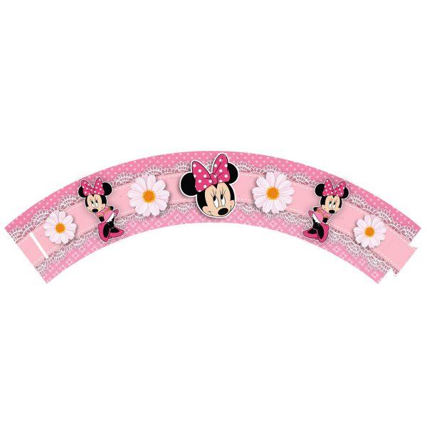 Saia de Cupcake Minnie Rosa