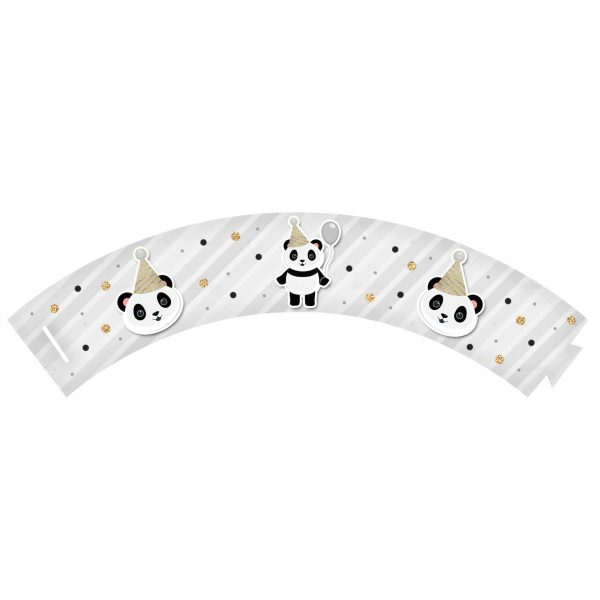 Saia de Cupcake Panda Grátis