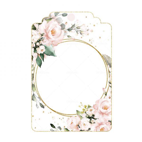 Tag Glitter Floral Grátis