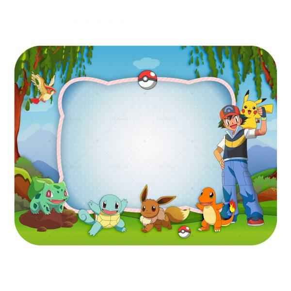 Tampa de Marmitinha Pokémon Grátis